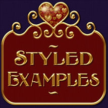 Fancy Jeweled Hearts Layer Styles image 2
