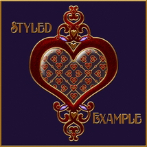 Fancy Jeweled Hearts Layer Styles image 4