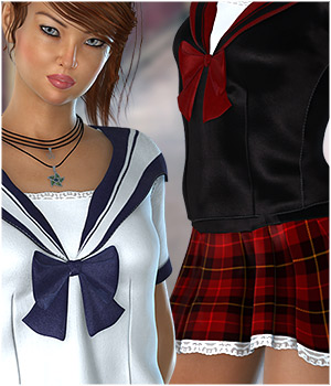 School Girl Textures 3D Figure Assets ShoxDesign