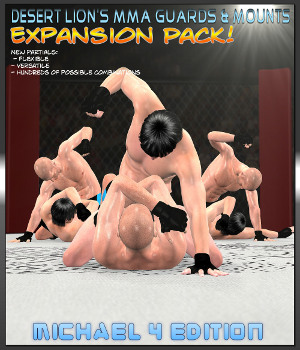 MMA Mounts & Guards Expansion Pack - M4 Edition 3D Figure Assets Desert_Lion