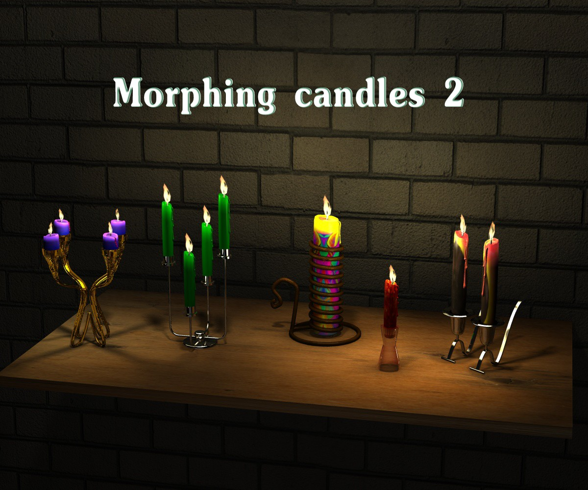 Morphing candles 2 - Extended License