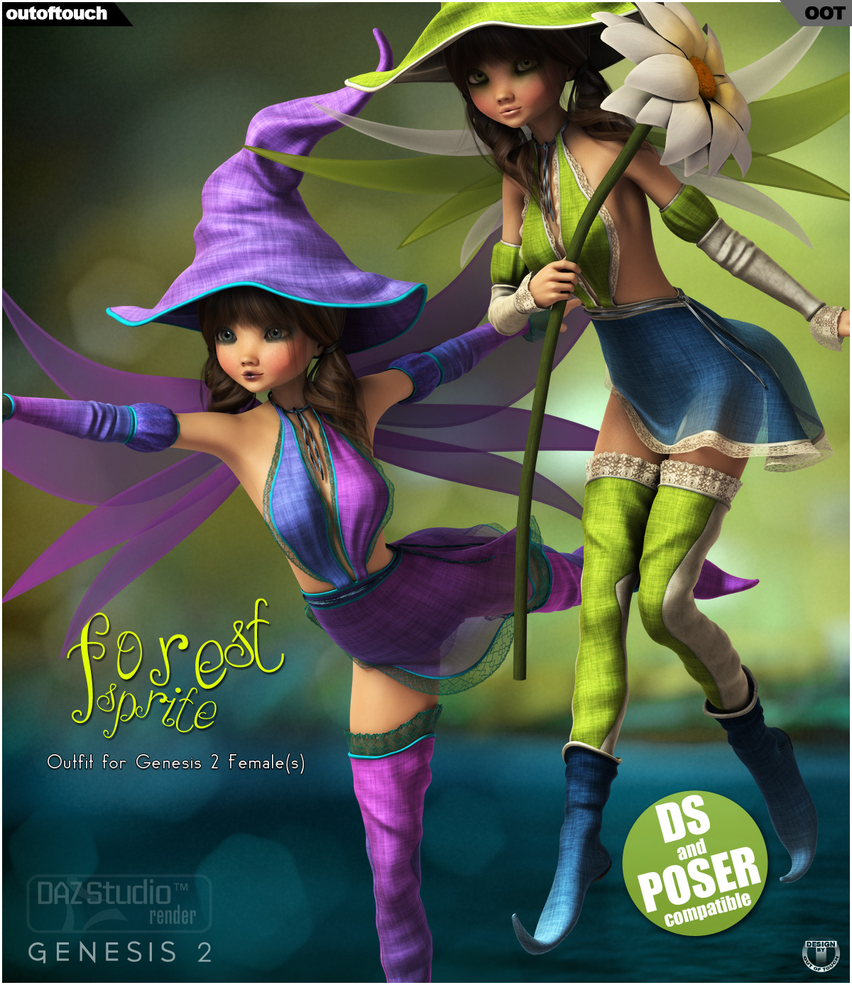 Forest Sprite Outfit for Genesis 2 Female(s)