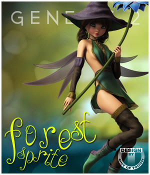 Forest Sprite Outfit for Genesis 2 Female(s) 3D Figure Essentials outoftouch