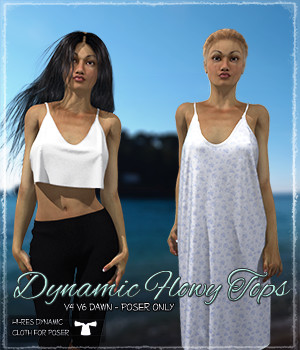 Dynamic Flowy Tops 3D Figure Essentials Grappo2000