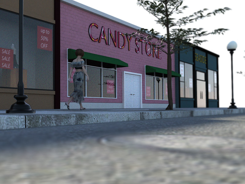 Candy Store Exterior