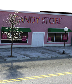 Candy Store Exterior 3D Models RPublishing