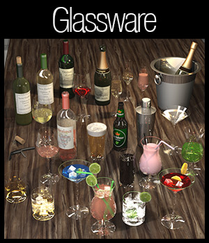 Everyday items, Glassware 3D Models 2nd_World