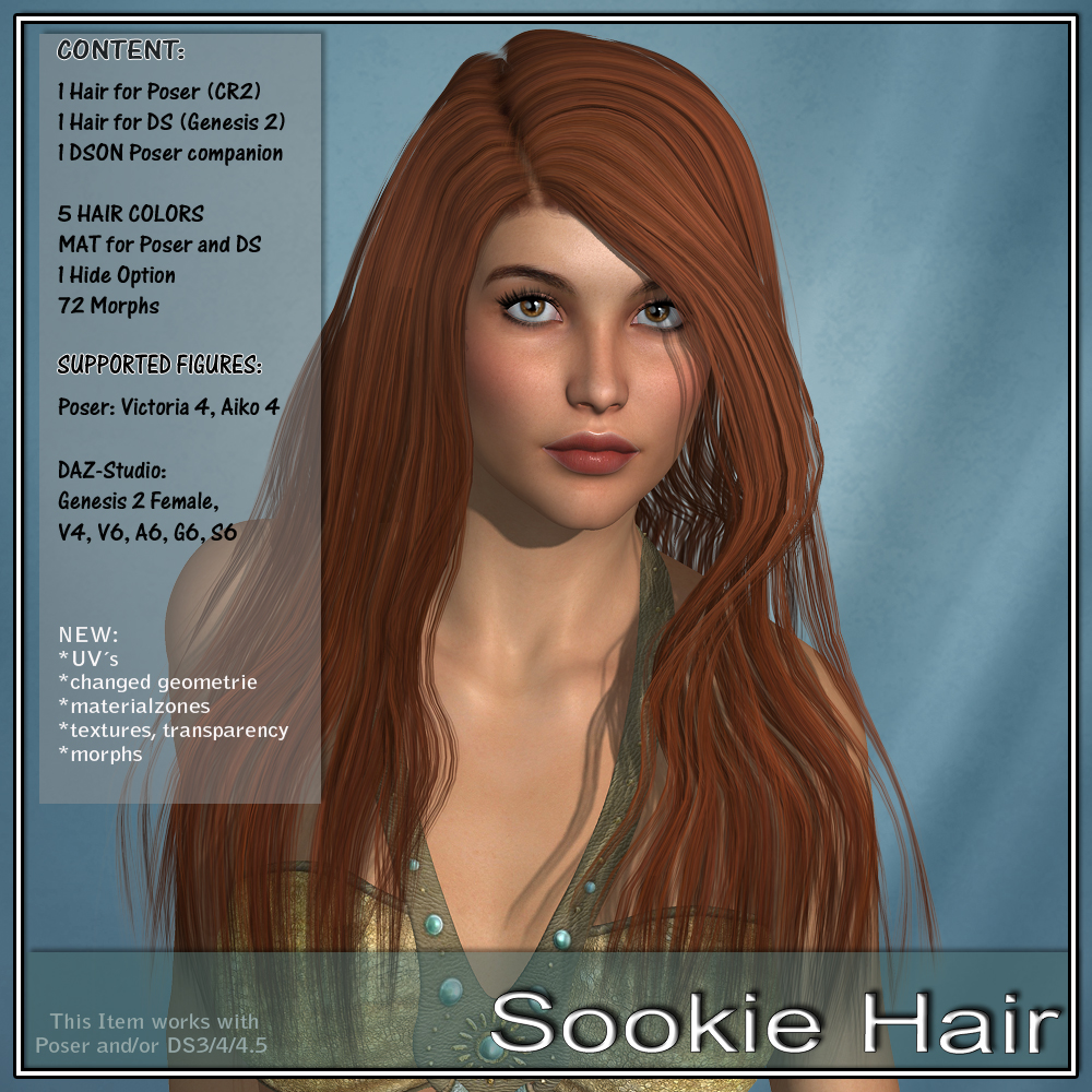 Sookie Hair for V4 and G2