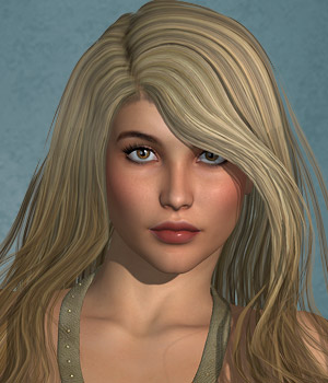 Sookie Hair for V4 and G2 3D Figure Essentials SWAM