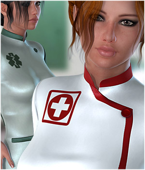 Cure You Nurse Textures 3D Figure Assets ShoxDesign