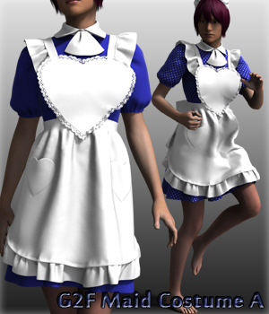 G2F Maid Costume A 3D Figure Essentials kang1hyun