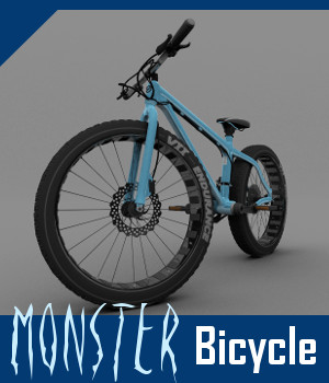 Monster Bicycle 3D Models TruForm