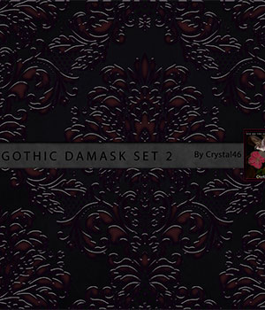 Gothic Damask Backgrounds:  Set 2 2D Crystal46