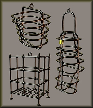 Three Cages 3D Models kawecki