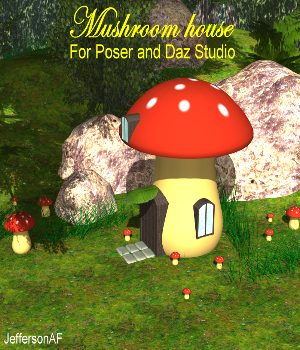 Mushroom house 3D Models JeffersonAF