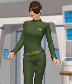 Galactic Officer V4 (for Poser) 3D Figure Essentials VanishingPoint