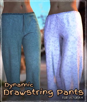Dynamic Drawstring Pants 3D Figure Essentials Grappo2000