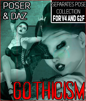 Z Gothicism - Separates Collection - V4-G2F/V6 3D Figure Essentials Zeddicuss