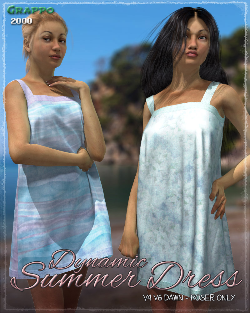 Dynamic Summer Dress by ShaaraMuse3D