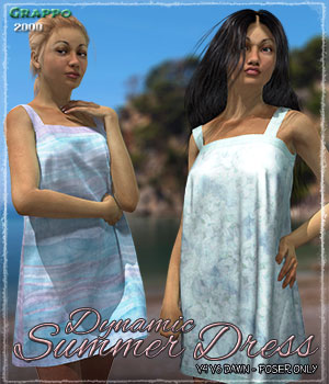 Dynamic Summer Dress 3D Figure Assets ShaaraMuse3D
