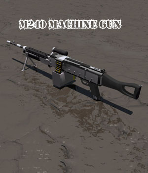 M240 Machine Gun 3D Models darkness_02