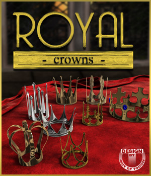 Royal Crowns for Poser and DAZ Studio 3D Figure Assets outoftouch