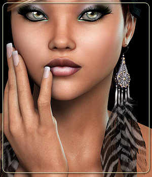 NYC Collection: Feather Earrings 3D Figure Essentials 3DSublimeProductions