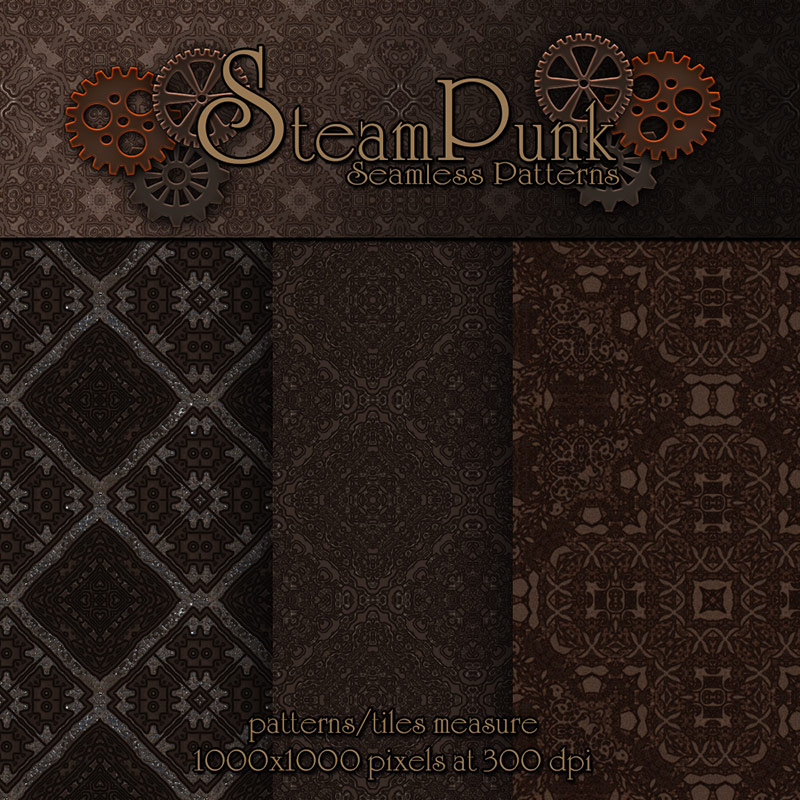Merchant Resource - Steampunk Patterns by antje