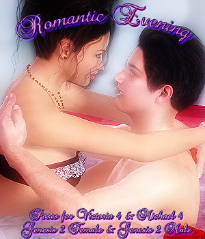 Romantic Evening V4M4 & G2FG2M 3D Figure Essentials -dragonfly3d-