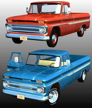 CHEVROLET C10 1965 3D Models Nationale7