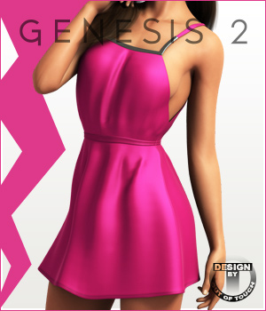 Fashion Blizz - U Dress for Genesis 2 Female(s) 3D Figure Assets outoftouch