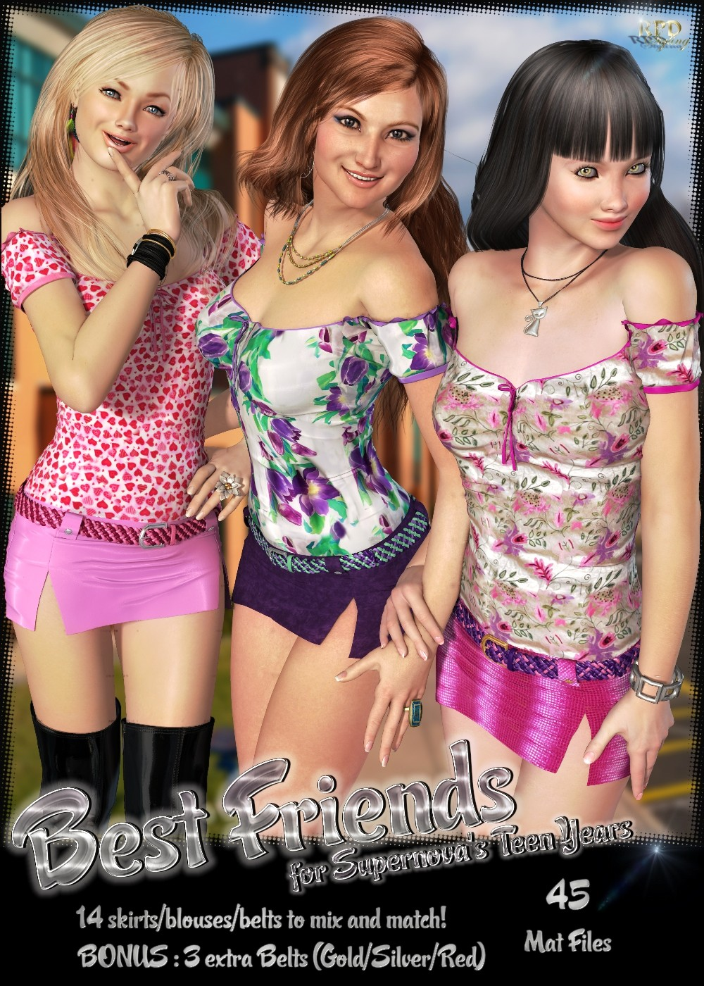 3d teen Teen Years - Best Friends