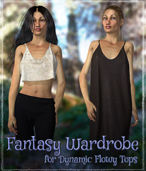 Fantasy Wardrobe for Dynamic Flowy Tops 3D Figure Assets ShaaraMuse3D