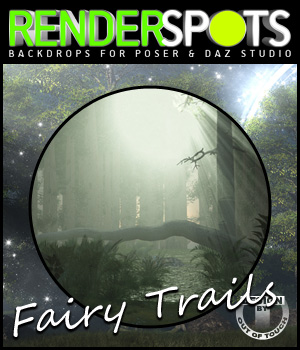 RenderSpots FairyTrails for Poser and DAZ Studio 2D 3D Models outoftouch