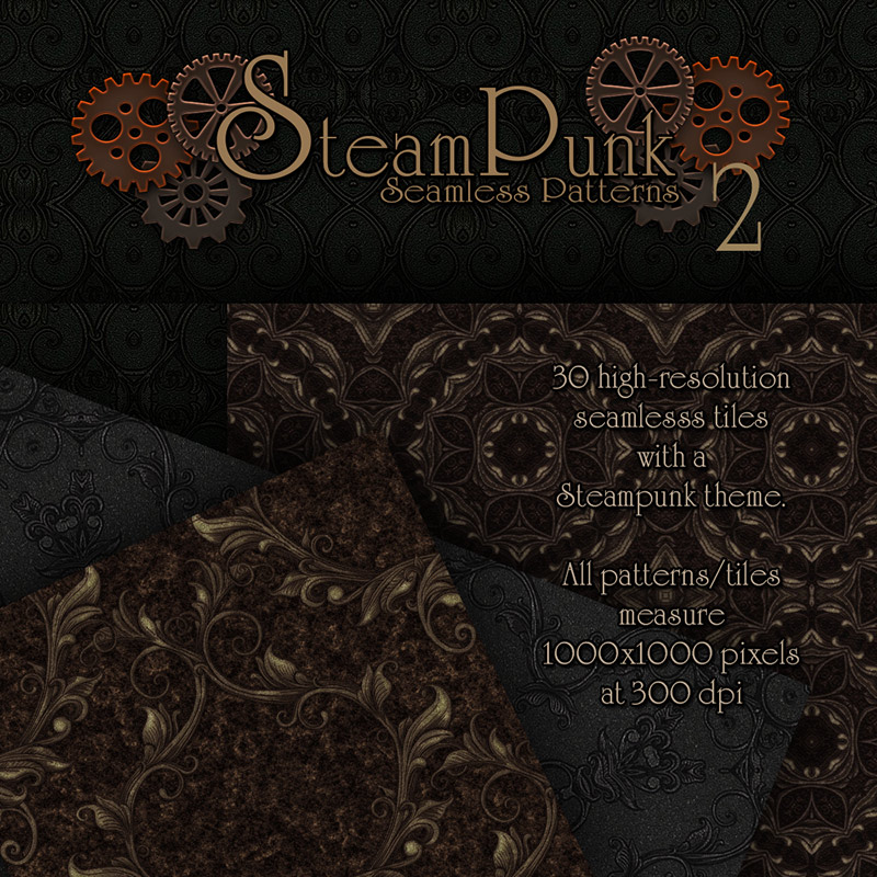 Merchant Resource - Steampunk Patterns 2 by antje
