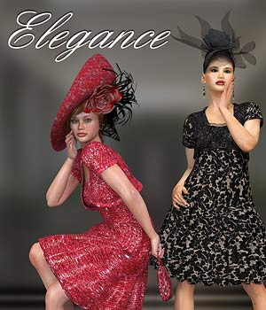 Elegance for Bolero Dress 3D Figure Assets Virtual_World