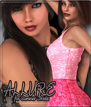 ALLURE for Summer  Dress 3D Figure Essentials Anagord