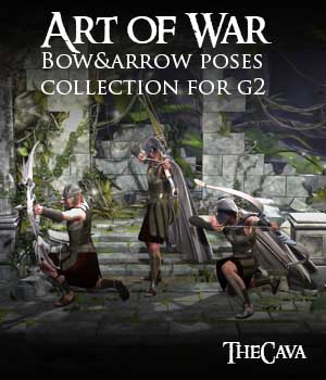 Art of War - The Ultimate Bow&Arrow Poses for Genesis2 3D Figure Assets TheCava