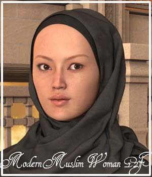 Modern Muslim Woman for Genesis 2 Female(s) 3D Figure Assets Oskarsson