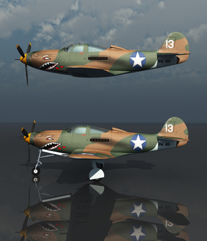 BELL P39 AIRACOBRA USAF (for VUE) 3D Models Nationale7