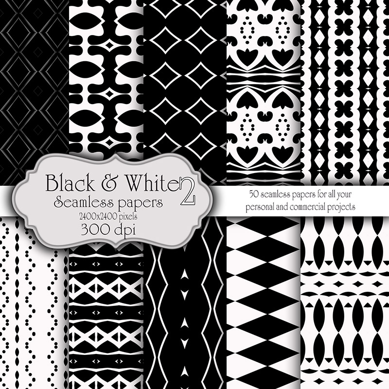 Black and White Seamless Papers