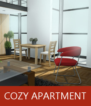 Cozy Apartment 3D Models TruForm