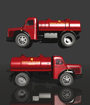 BERLIET GLR 1950 WINE TANK TRUCK (for VUE) 3D Models Nationale7