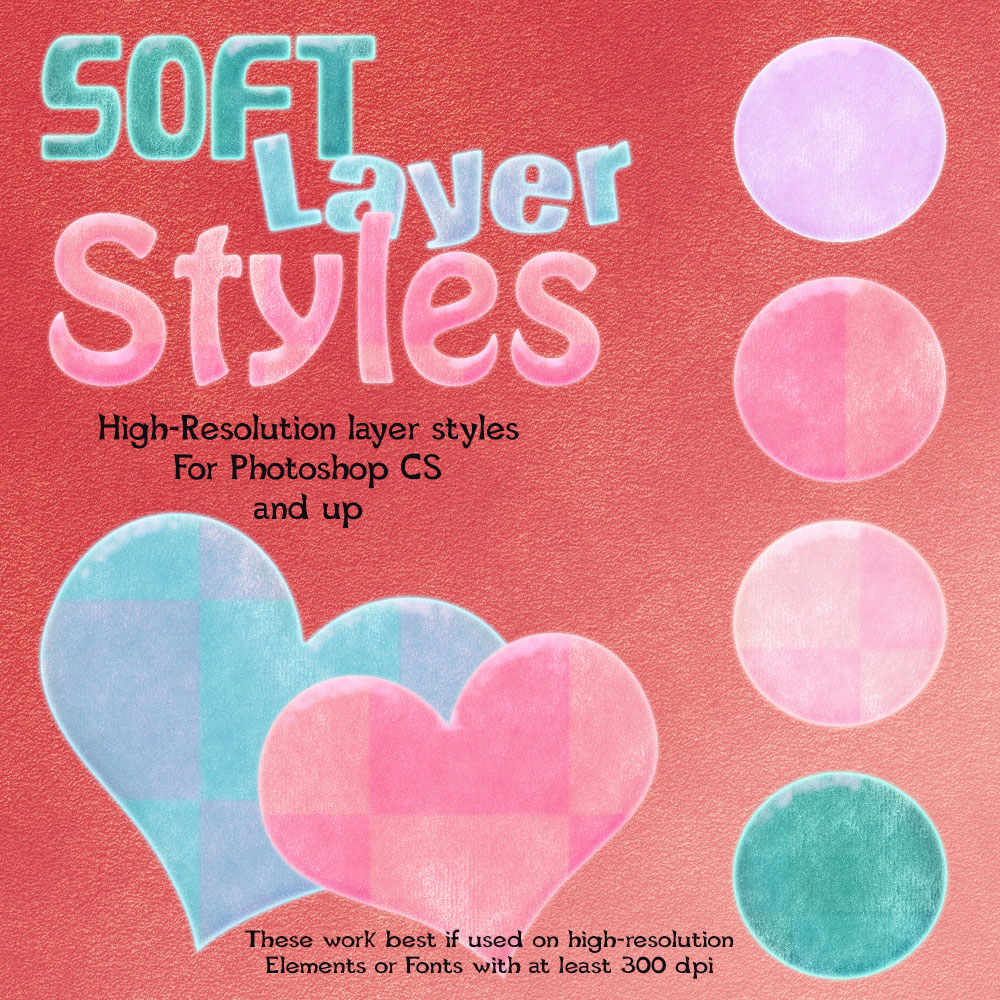 Soft Photoshop Layer Styles