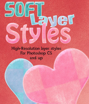 Soft Photoshop Layer Styles 2D Graphics Merchant Resources antje