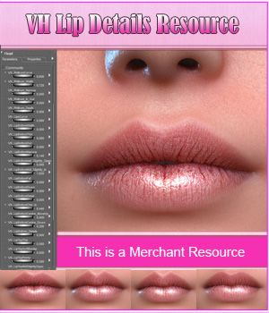 VH Lip Details Resource 3D Figure Assets Merchant Resources Godin