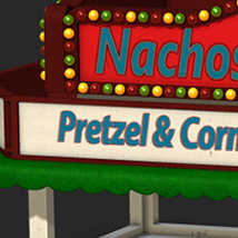 i13 County Fair FOOD Stand for Poser and DAZ Studio image 1