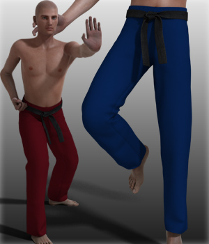 G2M Karate pants 3D Figure Essentials kang1hyun