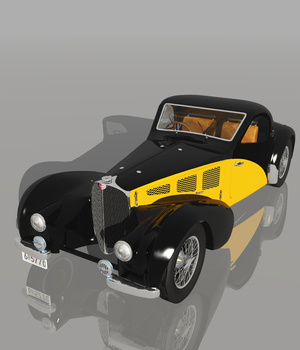 BUGATTI 57S 1937 (for VUE) 3D Models Nationale7