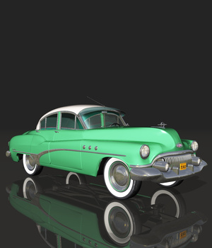 BUICK 4DOOR 1951 (for VUE) 3D Models Nationale7